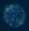 alternative energy circular blue vector image vector image