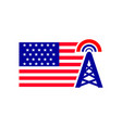 america tower signal logo template vector image vector image