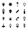 black light icon set vector image vector image