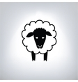 black silhouette of sheep vector image