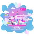 book festival banner vector image vector image