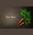carrot on the table vector image