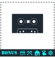 Cassette icon flat vector image vector image