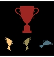 Champions cup icon set vector image vector image