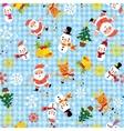 Christmas Santa snowflakes winter seamless pattern vector image vector image