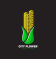 city flower for green city vector image