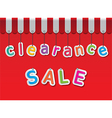 clearance sale vector image vector image