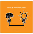 Creative brainstorm concept vector image vector image