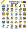 Creative learning icons vector image
