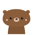 cute bear grizzly kawaii cartoon character funny vector image