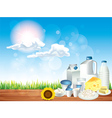 dairy sunny background vector image vector image