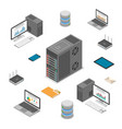 data network technology isometric vector image
