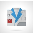 Doctor symbol flat color icon vector image