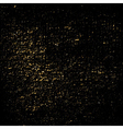 Dust texture black gold grunge vector image vector image