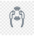 earphones concept linear icon isolated on vector image