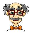 Elderly man in eyeglasses vector image