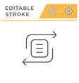 exchange editable stroke line icon vector image vector image