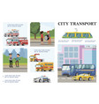 flat city transport infographic template vector image vector image