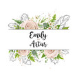 floral card art wedding watercolor invitation vector image