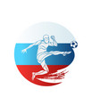 football championship logo flag of russia vector image