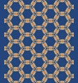geometric pattern in blue vector image vector image