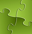 green puzzle solution background vector image