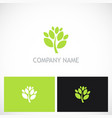 green tree plant nature logo vector image vector image