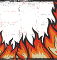 Grunge Fire Frame Background vector image vector image