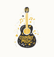guitar country music vector image vector image