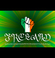 Hand drawn black ink isolated lettering Ireland on vector image vector image