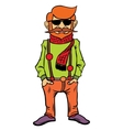 Hipster character design vector image vector image