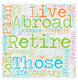 How to Plan Your Retirement Abroad text background vector image vector image