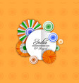 india independence day decoration greeting card vector image vector image
