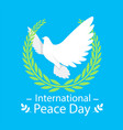 international peace day olive branch origami dove vector image vector image