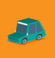 isometric car isolated on color background vector image vector image