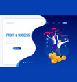 isometric profit fortune and success successful vector image