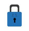 kawaii padlock security protection safety vector image vector image