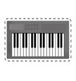 keyboard piano icon image vector image vector image