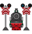 Locomotive and semaphores vector image