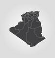 map of algeria vector image vector image