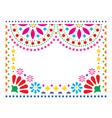 mexican greeting card on wedding party vector image vector image