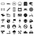 motor icons set simple style vector image vector image