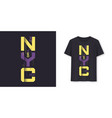 new york city graphic modern t-shirt design vector image vector image
