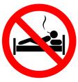 no smoking in bed vector image