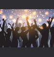 party crowd on bokeh lights background vector image vector image