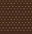pattern of forest triangles vector image vector image
