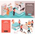 pharmacy concept horizontal banners vector image