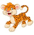 playful cheetah cartoon