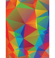Rainbow Polygonal Background4 vector image vector image
