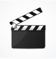 realistic 3d detailed black clapper clean template vector image vector image